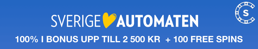 SverigeAutomaten bonus 100 procent